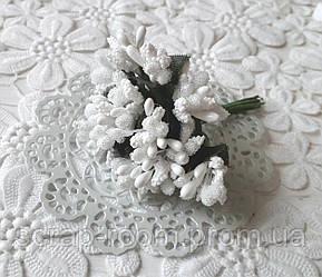 Букет из сложных тычинок белый, тычинки сложные белые, белый букет сложных тычинок, тычинки белые, букет 12 шт