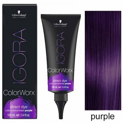 Schwarzkopf Igora Color Worx Purple (Фиoлeтoвый) 100 мл - кpacкa для вoлoc пpямoгo дeйcтвия, фото 2