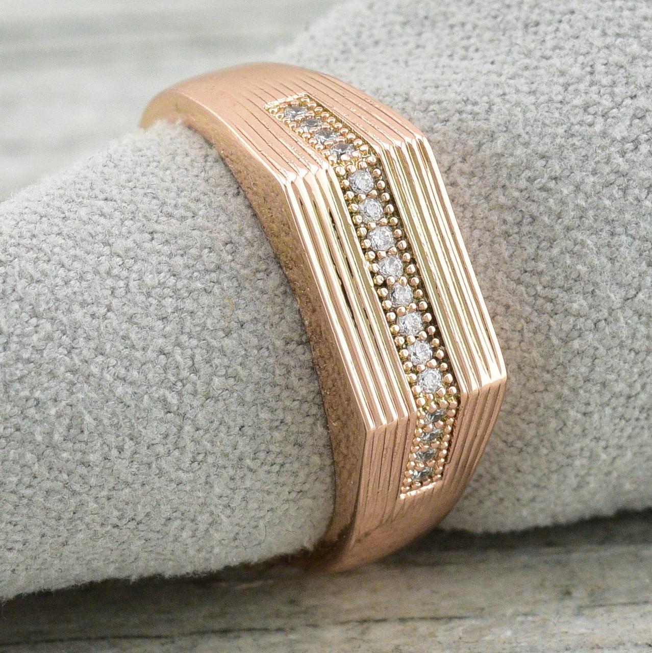 Кольцо 11620, размер 22, ширина 7 мм, куб.цирконий, вес 3.5 г, позолота РО