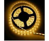 Світлодіодна стрічка SMD 3528 120 LED/m IP20 жовта, фото 1