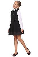 Сарафан школьный для девочки М-1041 рост 128 134 140 146 152 158 черный, фото 1