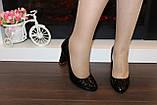 Туфли женские черные на каблуке код Т208, фото 3