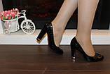 Туфли женские черные на каблуке код Т208, фото 4