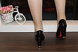 Туфли женские черные на каблуке код Т208, фото 5