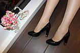 Туфли женские черные на каблуке код Т208, фото 6