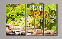"Картина модульная на холсте "" Вино"" HAT-044"