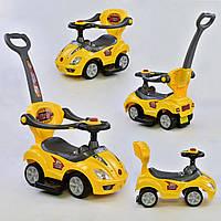Каталка-толокар 9630 - Y Желтый с родительской ручкой Гарантия качества Быстрая доставка