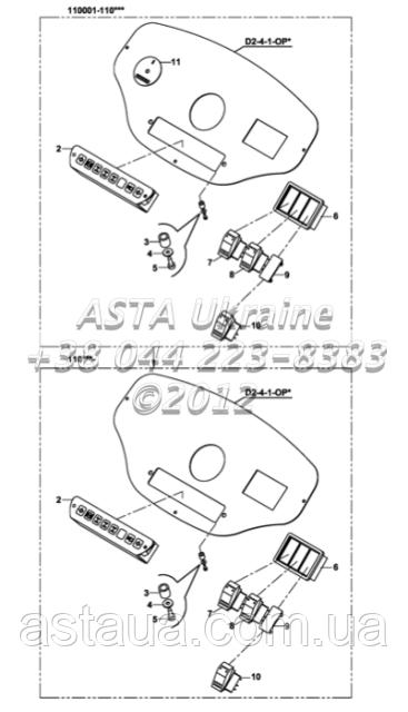 Панели приборов B2-3-2/01 на Hidromek 102B