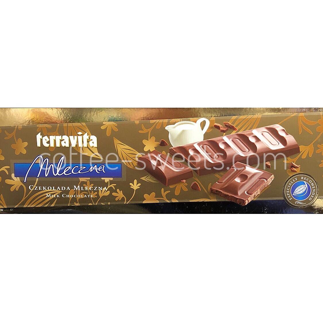 Шоколад молочный Terravita Mleczna 225 гр