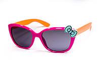 Детские очки с бантиком розово-оранжевые 928-7