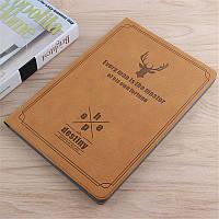 Чехол книжка для Huawei Mediapad T5 10 AGS2-L09 L03 AGS2-W09 W19 10.1 BGR Flip Deer Leather + PC Коричневый