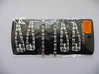 Набор 4 зажима, 2 невидимки, цена за пл., в пл. 6шт., 15*7см