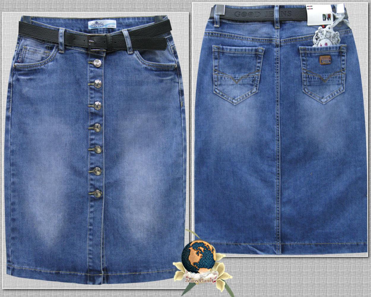 45b8f550d73e Модная джинсовая юбка карандаш на пуговицах с ремнём 31 размер