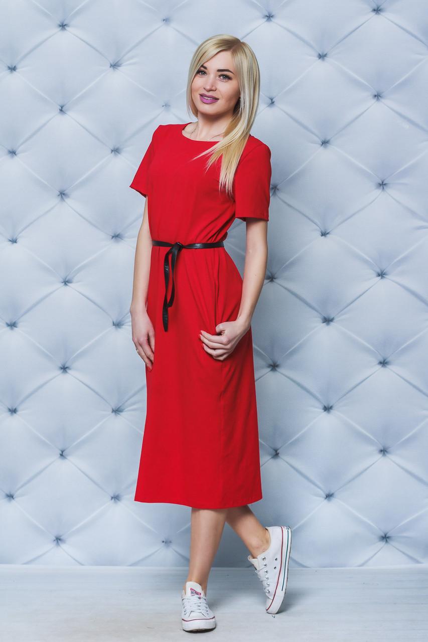 Платье женское летнее красное