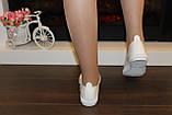 Слипоны женские белые с вышивкой Сакура код Т225, фото 8