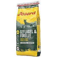 Josera Geflugel and Forelle 15 кг- беззерновой корм с птицей и форелью для собак