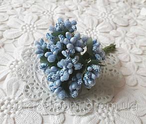Букет из сложных тычинок голубой, тычинки сложные, голубой букет сложных тычинок, тычинки голубые, букет 12 шт