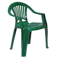 Кресло пластиковое «Луч», зеленое, фото 1