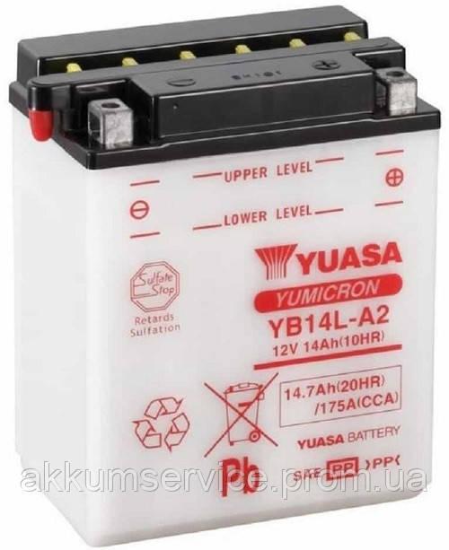 Аккумулятор мото Yuasa YuMicron 14.7AH/ 175А YB14L-A2(CP)