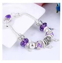 """Женский фиолетовый браслет в стиле """"Пандора"""""""