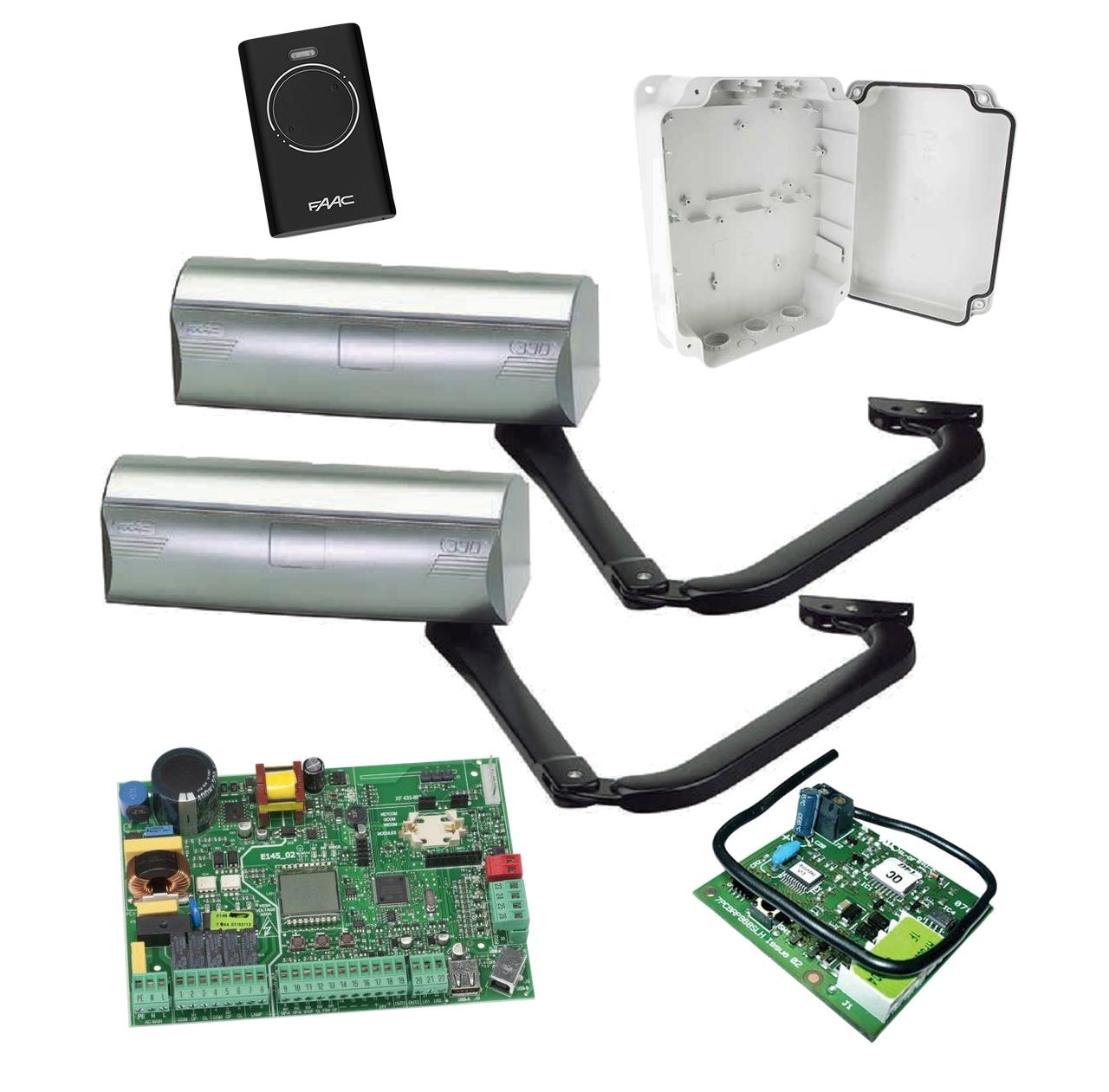 FAAC 390 KIT — автоматика для распашных ворот ( створка до 3м ), фото 1