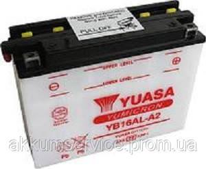 Аккумулятор мото Yuasa YuMicron 16.8AH/ 210А YB16AL-A2(CP)