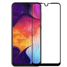 Защитное стекло Full Glue для Samsung A50 2019 (A505F), чёрное