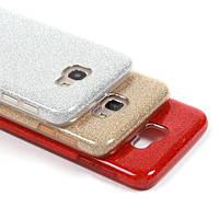 Силиконовый чехол с блестками для Samsung Galaxy M20 (выбор цвета)