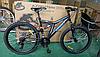 "Велосипед 2-х кол. Azimut Blackmount G-FR/D 24"" черно-синий Shimano, противоударные диски, фото 3"