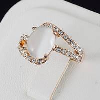 Великолепное кольцо с кристаллами Swarovski, покрытое золотом 0630