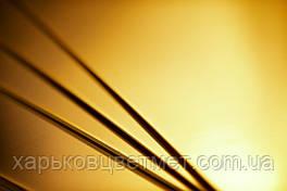Лист латунный полутвердый, толщина 0,5 мм (размер 600мм х 1500мм)