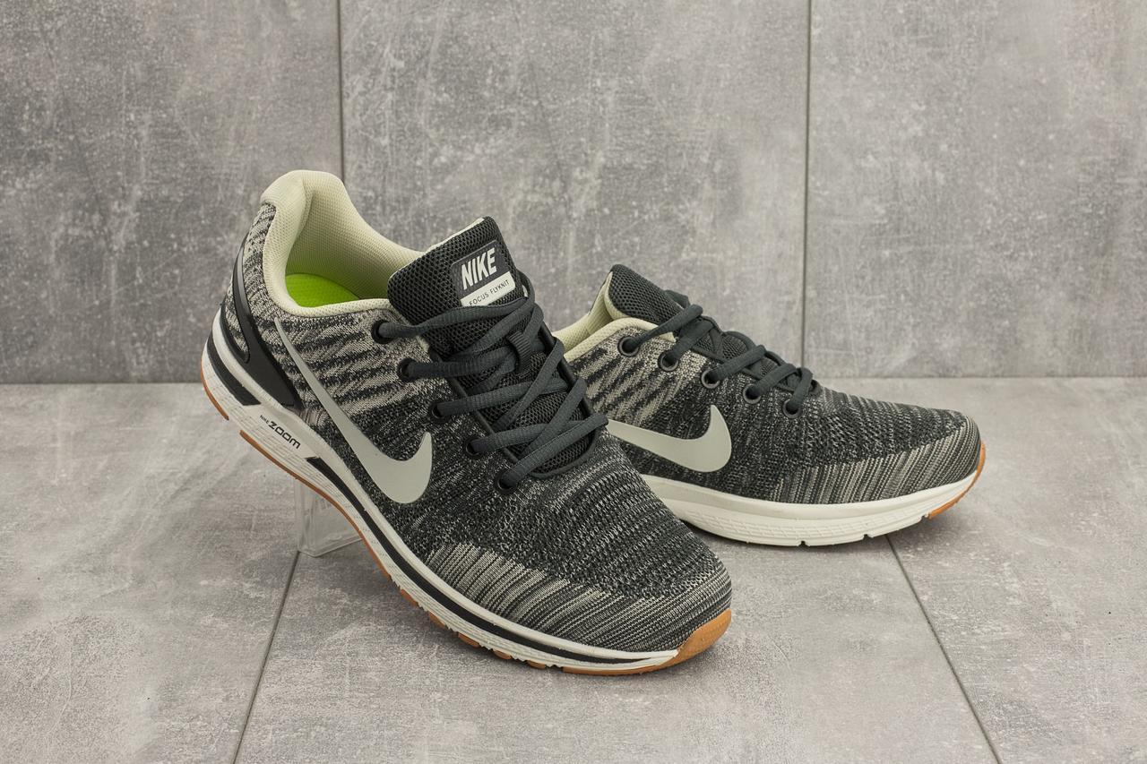 Кроссовки A 049 -2 (Nike Zoom) (весна/осень, мужские, текстиль, серый)