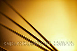 Лист латунный мягкий, толщина 1,0 мм (размер 600мм х 1500мм)