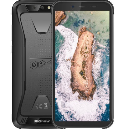 "Смартфон Blackview BV5500 Black 2/16Gb, 8+0,3/5Мп, IP68, 4 ядра, 2sim, 5.5"" IPS, 3G, 4400mAh, MT6580P"