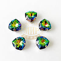 Cтразы в цапах Триллиант, размер 12мм, цвет Rainbow, 1шт