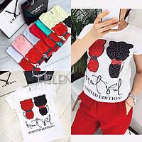 Женская футболка Limited edition белый серый пудра мята красный слоновая кость 42 44 46, фото 1