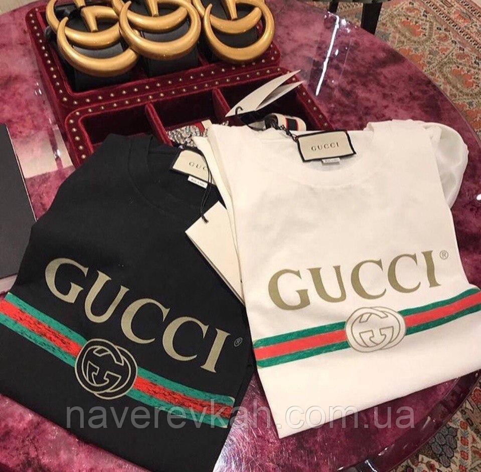 Женская летняя футболка Гучи ,трикотаж х.б черный, белый , розовый  42-46