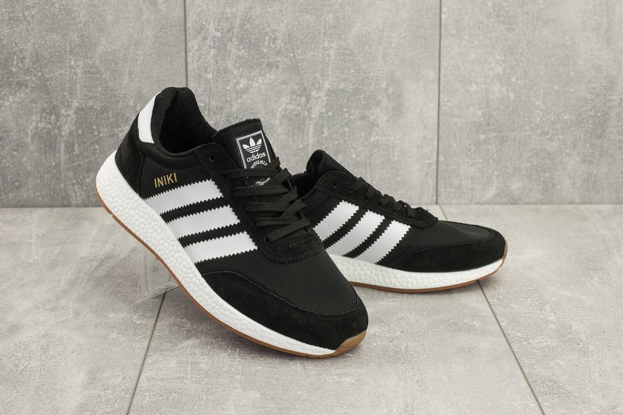 Кроссовки Adidas Iniki (весна/осень, мужские, текстиль, черный)