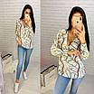 Блуза с абстрактными узорами, фото 2