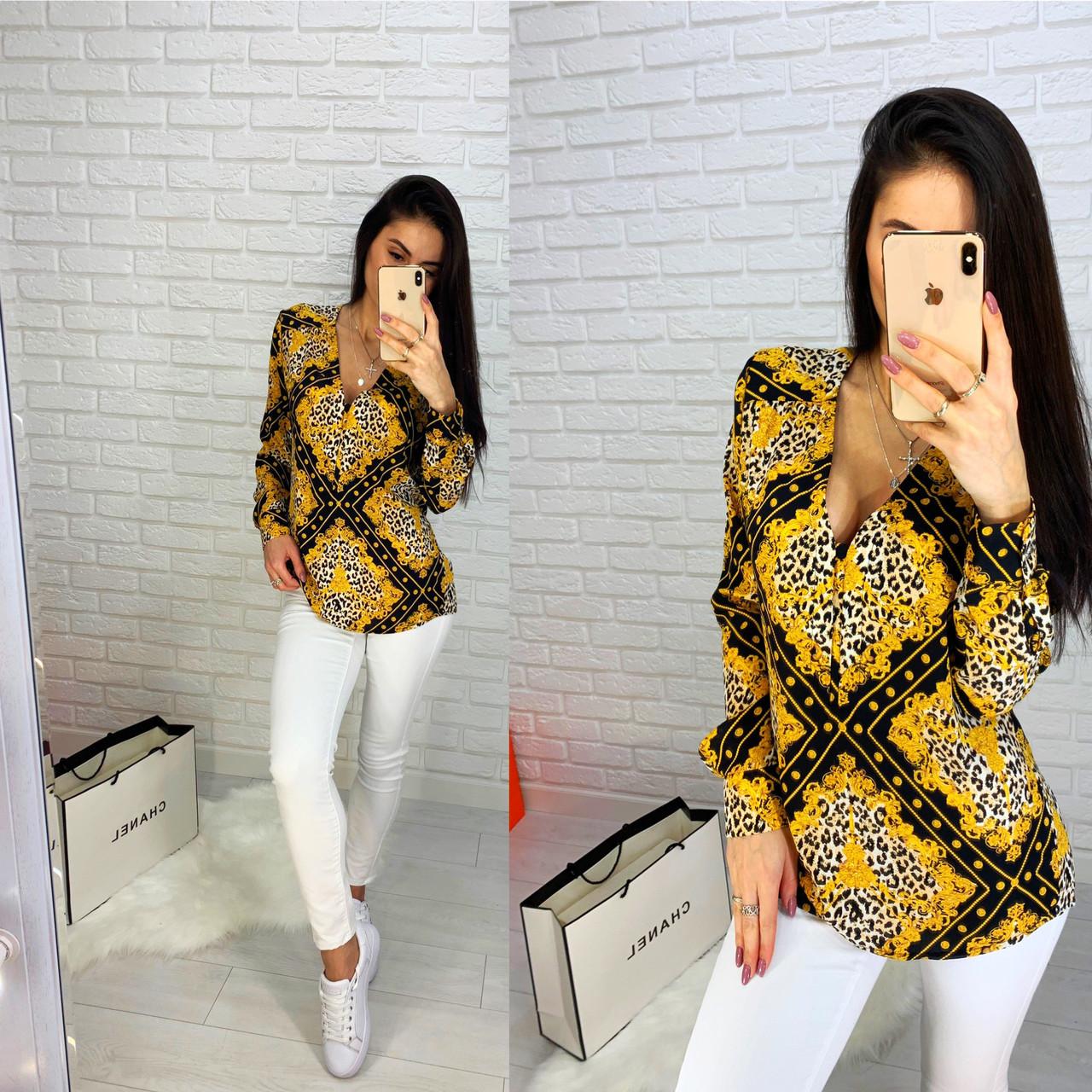 Блуза с абстрактными узорами