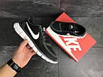 Мужские кроссовки Nike Free Run 5.0 (черно-серые с белым) , фото 3
