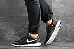 Мужские кроссовки Nike Free Run 5.0 (черно-серые с белым) , фото 5