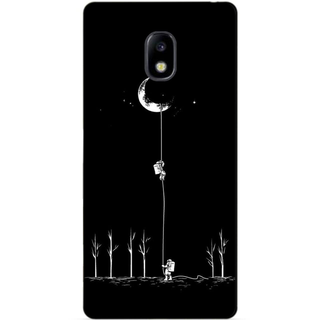 Силиконовый бампер чехол для Samsung J730 Galaxy J7 2017 года с рисунком Путь к Луне