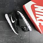 Мужские кроссовки Nike Free Run 5.0 (черно-серые с белым) , фото 6