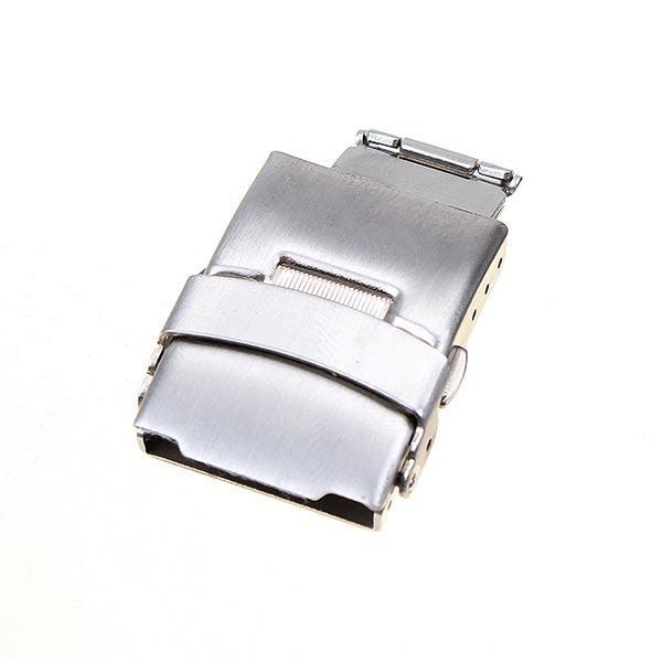 Нержавеющая сталь двойное нажатие часы бабочка двойной оснастки кнопку - 1TopShop