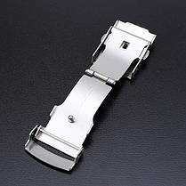 Нержавеющая сталь двойное нажатие часы бабочка двойной оснастки кнопку - 1TopShop, фото 2