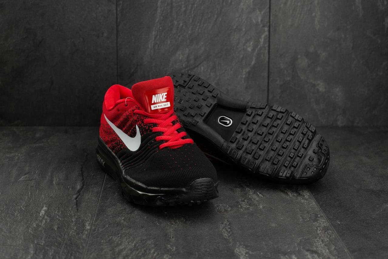 Кроссовки A 2017 -1 (Nike AirMax 2017) (весна/осень, мужские, текстиль, черный-красный)
