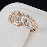 Богатое кольцо с кристаллами Swarovski, покрытое золотом 0631