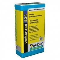 1-комп. эластичная гидроизоляция Вебер.Тек 824 (Суперфлекс Д1) / WEBER.TEC 824 (Superflex D1)  уп.20 кг