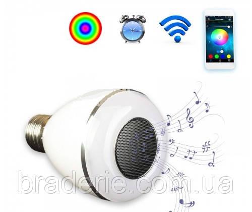 Bluetooth колонка лампочка E27 7 цветов